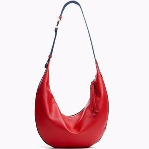 Rag & bone fiery red riser crossbody leather